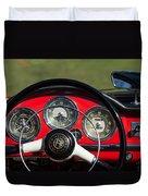 1961 Alfa-romeo Giulietta Spider Steering Wheel Emblem Duvet Cover
