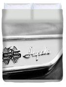 1961 Chevrolet Impala Ss Emblem Duvet Cover