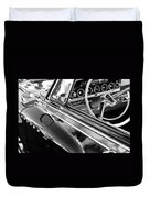 1962 Dodge Polara 500 Side Emblem - Steering Wheel Duvet Cover