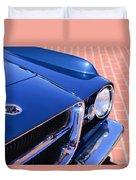 1962 Ghia L6.4 Coupe Grille Emblem Duvet Cover