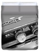 1962 Plymouth Fury Taillights And Emblem Duvet Cover
