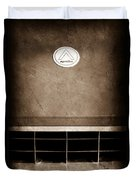 1963 Apollo Gran Tourismo Hood Emblem Duvet Cover