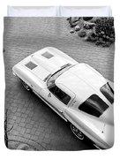 1963 Chevrolet Corvette Split Window -440bw Duvet Cover