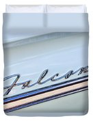 1963 Ford Falcon Futura Convertible  Emblem Duvet Cover by Jill Reger