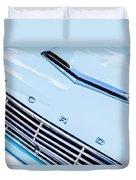 1963 Ford Falcon Futura Convertible Hood Emblem Duvet Cover
