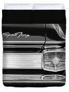 1963 Plymouth Sport Fury Taillight Emblem Duvet Cover