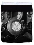 1964 Aston Martin Steering Wheel Emblem Duvet Cover