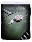 1964 Morgan 44 Hood Emblem Duvet Cover