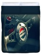 1965 Ford Gt 40 Steering Wheel Emblem Duvet Cover