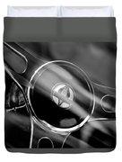 1965 Ford Mustang Cobra Emblem Steering Wheel Duvet Cover