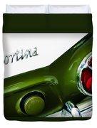 1966 Lotus Cortina Mk1 Taillight Emblem Duvet Cover