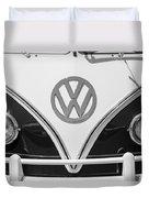1966 Volkswagen Vw 21 Window Microbus Emblem Duvet Cover