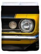 1967 Camaro Headlight Duvet Cover