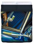1967 Chevrolet Camaro Ss 350 Rear View Mirror Emblem Duvet Cover