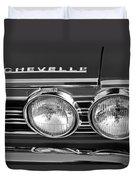 1967 Chevrolet Chevelle Super Sport Emblem Duvet Cover