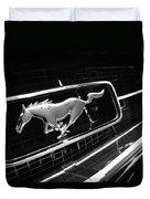 1967 Ford Mustang Gt Grille Emblem Duvet Cover