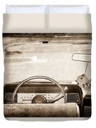 1967 Lincoln Continental Steering Wheel Duvet Cover