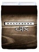 1967 Plymouth Gtx Belvedere Emblem Duvet Cover