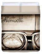 1968 Chevrolet Chevelle Hood Emblem Duvet Cover
