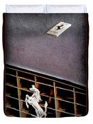 1968 Ferrari 365 Gtc Hood Emblem - Grille Emblem Duvet Cover