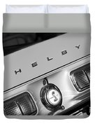 1968 Shelby Gt500 Kr Fastback Rear Emblem - Taillights Duvet Cover