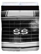 1969 Chevrolet Camaro Rs-ss Indy Pace Car Replica Grille Emblem Duvet Cover
