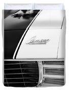 1969 Chevrolet Camaro Rs-ss Indy Pace Car Replica Hood Emblem Duvet Cover by Jill Reger