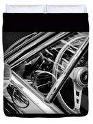 1969 Lamborghini Islero Steering Wheel Emblem Duvet Cover