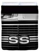 1970 Chevrolet Chevelle Ss 454 Grille Emblem Duvet Cover