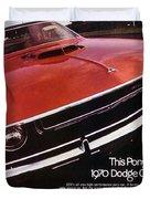 1970 Dodge Challenger R/t  Duvet Cover