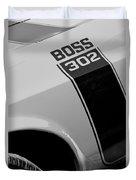 1970 Ford Mustang Sportsroof Boss 302 Emblem Duvet Cover
