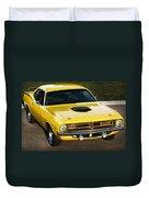 1970 Plymouth Hemi 'cuda Duvet Cover