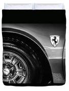 1971 Ferrari Dino Gt Wheel Emblem -027c Duvet Cover