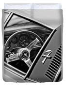 1971 Iso Grifo Can Am Steering Wheel Emblem Duvet Cover