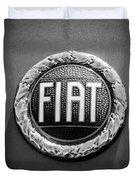 1972 Fiat Dino Spider Emblem Duvet Cover