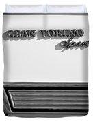 1972 Ford Gran Torino Sport Emblem Duvet Cover