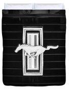 1972 Ford Mustang Boss 302 Grille Emblem Duvet Cover