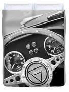 1972 Ginetta Steering Wheel Emblem Duvet Cover