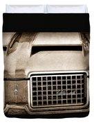 1972 Oldsmobile Grille Emblem Duvet Cover