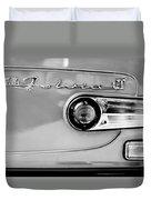 1975 Lancia Fulvia 1.3s Gt Berlina Taillight Emblem Duvet Cover