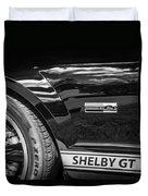 2007 Ford Mustang Shelby Gt500 Painted Bw  Duvet Cover