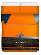 2009 Spyker C8 Laviolette Lm85 Grille Emblem Duvet Cover by Jill Reger