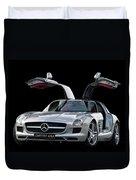 Mercedes Benz S L S  Gull-wing Duvet Cover
