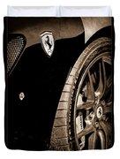 2011 Ferrari 599 Gto Emblem - Wheel Duvet Cover