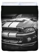 2013 Ford Mustang Shelby Gt 500 Bw Duvet Cover