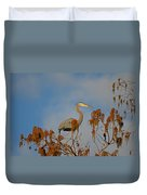 7- Great Blue Heron Duvet Cover
