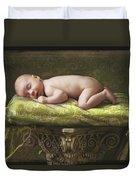 A Baby Asleep On A Pillar Duvet Cover
