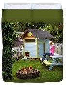 A Backyard Chicken Coop In Bellingham Duvet Cover