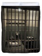 A Cell In Alcatraz Prison Duvet Cover by RicardMN Photography