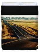 A Country Road In The Central Valley Duvet Cover